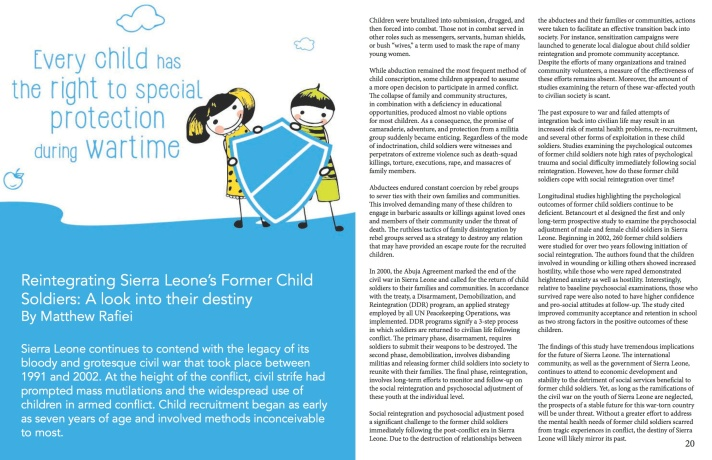 Our Children, Our Future - WM News Volume 2, 2014-2015 P11